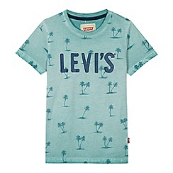 Levi's - 'Boys' blue printed logo t-shirt