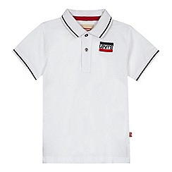 Levi's - Boys' white logo embroidered polo shirt