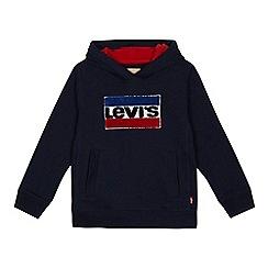 Levi's - Boys' blue logo print sweatshirt