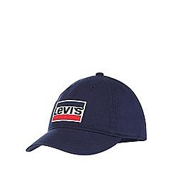 Levi's - 'Boys' navy embroidered logo baseball hat
