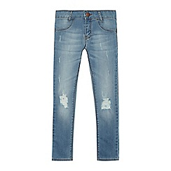Levi's - Girls' blue '710' distressed super skinny jeans