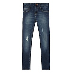 Levi's - Girls' blue '711' distressed skinny jeans