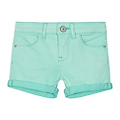 Levi's - Girls' aqua 'Amel' denim shorts
