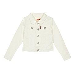 Levi's - 'Girls' off white denim jacket
