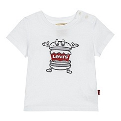 Levi's - Baby boys' white baby hamburger print t-shirt