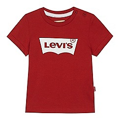 Levi's - Baby boys' red 'Batwing' print t-shirt