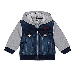 Levi's - Baby boys' blue hooded jacket