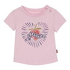 Levi's - 'Baby girls' pink strawberry print top