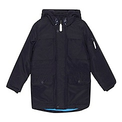 bluezoo - 'Boys' navy water resistant parka coat