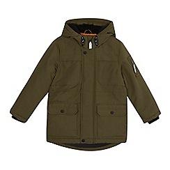 bluezoo - 'Boys' khaki water resistant parka coat
