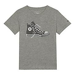 Converse - Boys' grey pixel print t-shirt
