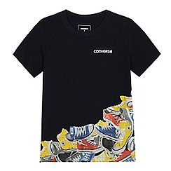 Converse - Boys' navy trainer print t-shirt