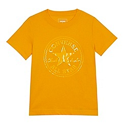 Converse - Boys' yellow logo print t-shirt