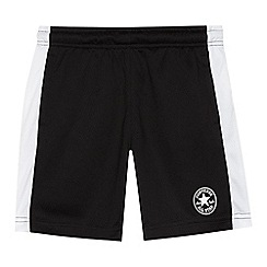 Converse - 'Boys' black mesh shorts