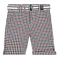 J by Jasper Conran - Boys' multi-coloured gingham print belted shorts