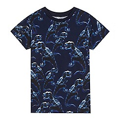bluezoo - 'Boys' navy dinosaur print t-shirt