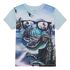 bluezoo - 'Boys' multi-coloured dinosaur print t-shirt