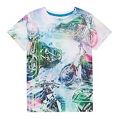 bluezoo - Boys' blue motorbike print t-shirt