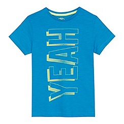 bluezoo - Boys' blue 'Yeah' slogan print t-shirt