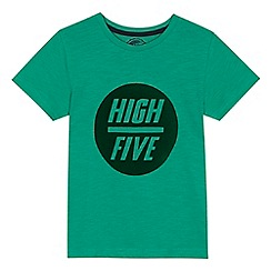 bluezoo - Boys' green 'High Five' flock t-shirt