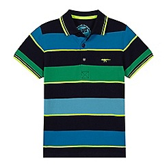 bluezoo - 'Boys' blue striped polo shirt