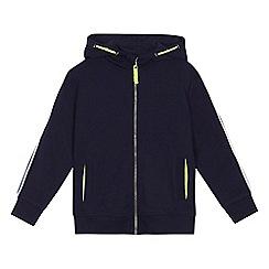 bluezoo - 'Boys' navy striped trim hoodie