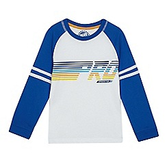 bluezoo - Boys' white skater print t-shirt