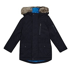 bluezoo - Boys' navy shower resistant parka