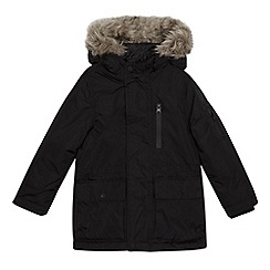 bluezoo - Boys' black shower resistant parka