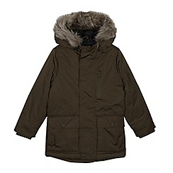 bluezoo - Boys' Khaki shower resistant parka