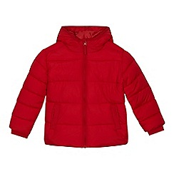 bluezoo - 'Boys' red shower resistant padded jacket