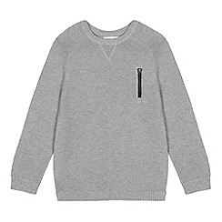 bluezoo - Boys' grey ribbed jumper
