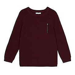bluezoo - Boys' wine ribbed jumper