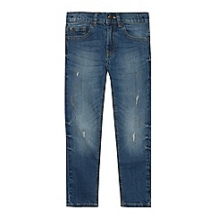 bluezoo - Boys' blue ripped effect mid wash skinny jeans