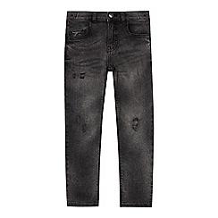 bluezoo - Boys' dark grey mid wash skinny fit jeans