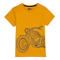bluezoo - Boys' dark yellow motorbike print t-shirt