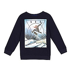 bluezoo - Boys' navy skater print sweater