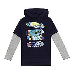 bluezoo - Boys' navy skateboard print sweater