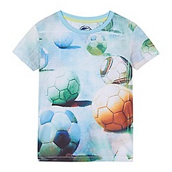 bluezoo - 'Boys' multi-coloured football print-shirt