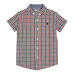 J by Jasper Conran - Boys' multicoloured short sleeve cotton shirt
