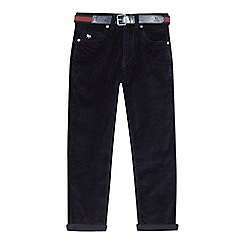 J by Jasper Conran - Boys' navy corduroy slim trousers