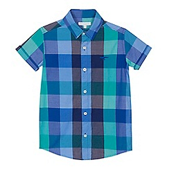 bluezoo - 'Boys' multi-coloured checked short sleeve shirt