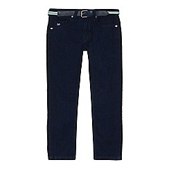 J by Jasper Conran - Boys' navy dark wash slim fit jeans