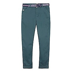 J by Jasper Conran - 'Boys' dark green slim fit chino trousers