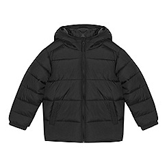 bluezoo - Boys' black padded shower resistant jacket