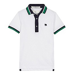 J by Jasper Conran - 'Boys' white grosgrain polo shirt