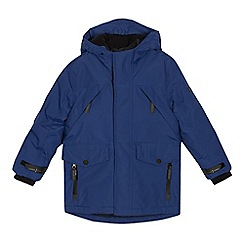 J by Jasper Conran - Boys' blue mock insert waterproof parka