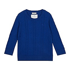 J by Jasper Conran - Boys' Bright Blue Cable Knit Jumper