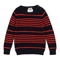 J by Jasper Conran - Boys' navy striped knit jumper