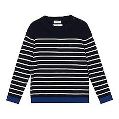 J by Jasper Conran - Boys' navy striped jumper
